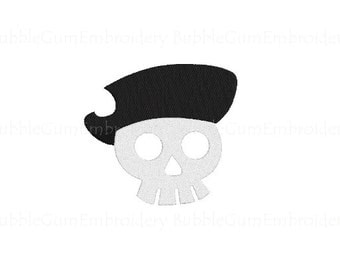 Pirate Skull Embroidery Design Instant Download