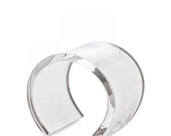 """N'4 Clear Transparent Lucite Cuff - 2.25"""""""