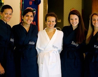 7 Personalized Bridesmaids Robes Bridesmaid gifts Front embroidery is included on all robes