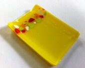 Jennifer's Custom Small Yellow Glass Dish
