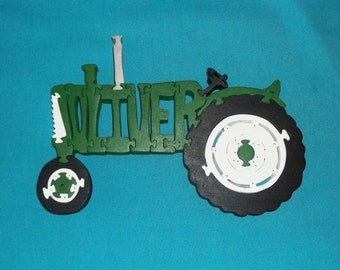 Oliver Farm Tractor Wooden Scroll Saw Puzzle