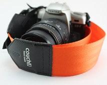 Industrial Orange Seatbelt Camera Strap - Tangerine Dream - No Bad Days Nectarine