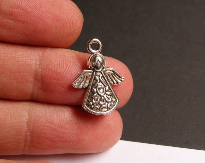 12 Angel charms -  12 pcs - Angel Tibetan silver tone charms - ASA59
