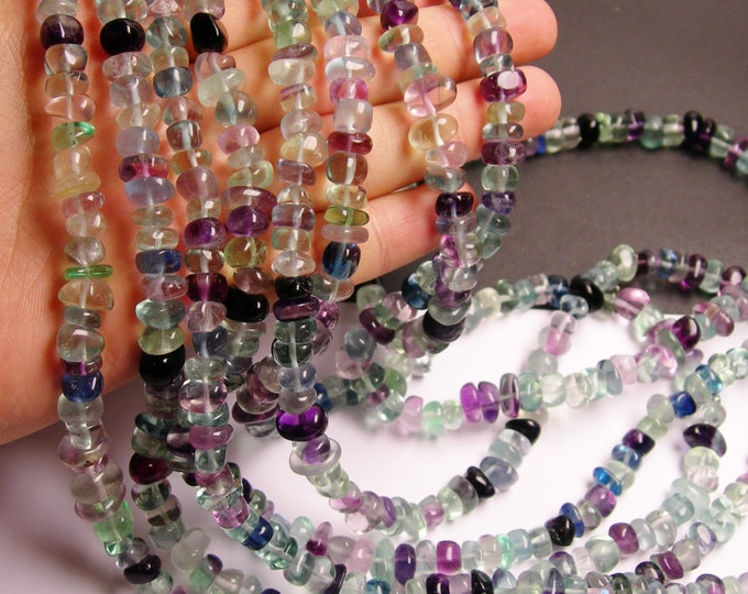 Fluorite Gemstone  - pebble - nugget - bead - 36 inch -full strand - 180 beads - AA quality - PSC190