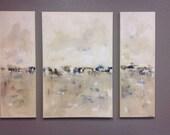 Large original painting Bodega Dunes Triptych 48 x 36