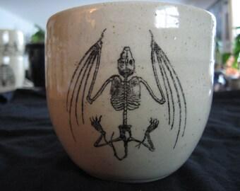 Bat skeleton mug