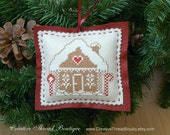 Gingerbread House - Christmas Ornament - Holiday Pincushion - Holiday Ornament - Felt Ornament - Tree Ornament - Handmade