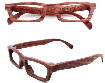 TAKEMOTO LOVE-WOOD handmade red rosewood wooden eyeglasses glasses frame Free shipping