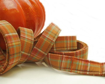 Pumpkin Pie Plaid Dog Leash