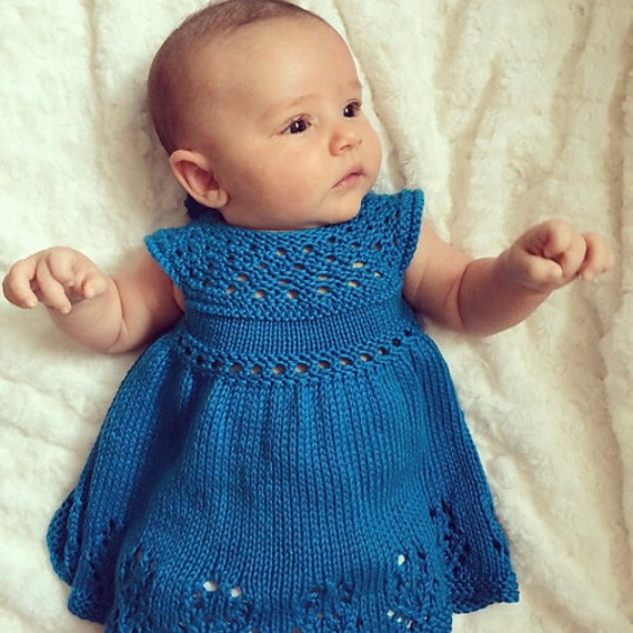 Knitting Patterns For Baby Fancy Dress : Lilly Rose Dress PDF pattern