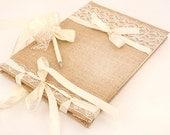 Wedding Guest Book -Traditional, Retro, Rustic Weddings