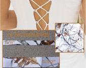 New True Timber White Snowfall Satin Ribbon, Camo Ribbon Camouflage Ribbon 1 Yard