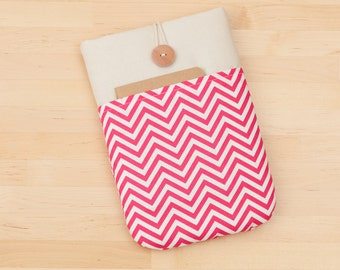 ipad mini sleeve / ipad mini retina case / ipad mini cover - pink chevron -