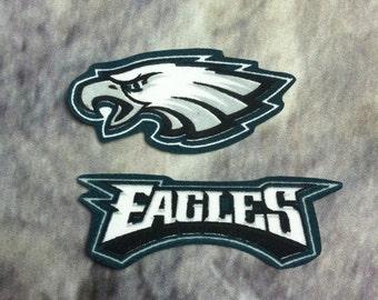 Philadelphia Eagles iron on applique set