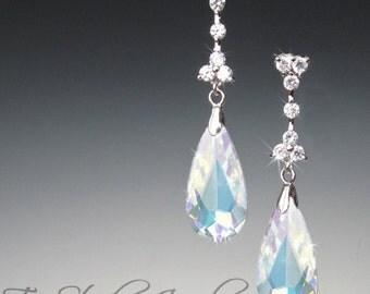 Crystal Teardrop Chandelier Bridal or Bridesmaid Earrings - MARISSA Earings