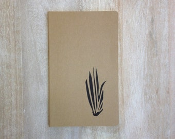 Air plant botanical hand printed large notebook journal