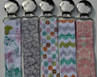 Pacifier Clip - Universal Clip for Girls Pacifier/Binkie/Soothie