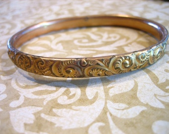 Antique Victorian Gold Filled Bangle BRACELET L.S. & Co.