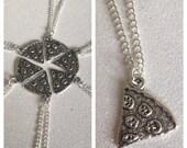 6 x Pizza Slice Necklaces Pendant Best Friends