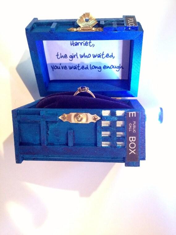 Tardis Wedding Ring Box Police Box Wedding Ring Box