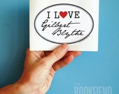 I love Gilbert Blythe oval bumper sticker