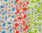 SALE : American Jane Punctuation Ditto Daisy moda fabrics 3 FQ set Oop Htf