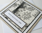 Mothers Day Greeting Cards:  Handmade Blank Note Card - Victorian Stroll