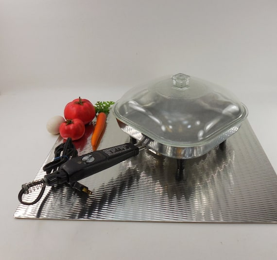 Sunbeam Fry Pan Electric Skillet Small 10 1950s By