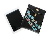 FREE SHIPPING. Black Faux Leather iPad Sleeve. Handmade iPad Cover. Positive Quotes iPad Cover. iPad Fun Sleeve. Inspiration iPad Sleeve