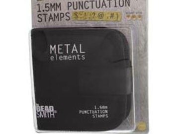 Punctuation Set-1/16th 9 Pieces with Canvas Pouch for Storage -Metal Stamp Set-Great Inexpensive Tool for Your Shop and Stamping Needs