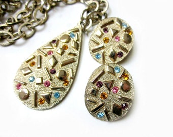Vintage Sarah Coventry Necklace Earring Set Sultana Jewelry Set Vintage Under 20 Designer Jewelry