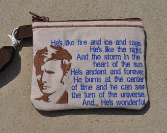 Doctor Who Wallet Wristlet Tennant Fire and Ice