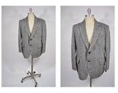 HARRIS TWEED vintage blazer suit jacket sports coat tweed 1960s mod indie professor 42