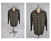 PENDLETON vintage wool shirt mens plaid large 1950s