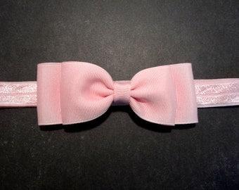 Light Pink Bow Headband / Pink Bow Headband /Pink Baby Headband / Baby Hair Accessories / Baby Girls Hair Accessories / Pink Bow / Newborn