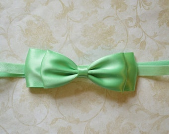 Mint Bow Headband. Mint Green Baby Headband. Flower Girl Hair Accessories. Baby Girls Hair Accessories. Baby Hair Accessories. Mint Satin