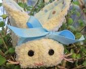 BINKY the White and Blue Boo-Boo Bunny with reusable ice cube -available for adoption
