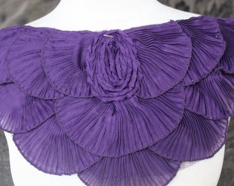 Nice ruffled  applique yoke  1 pieces listing 14 1/2 inches wide at the neck 7 1/2 inches long from center down