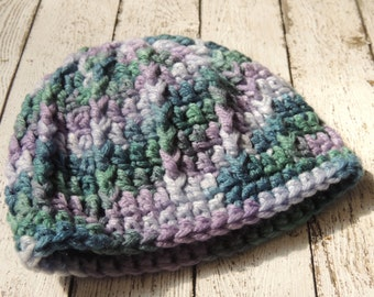 Clearance Girls Crochet  Beanie Size 0-3 Months / Ready To Ship