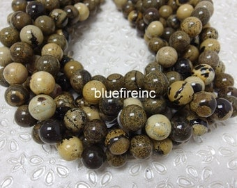 37 pcs 10mm smooth Natural Color Picasso Jasper Beads