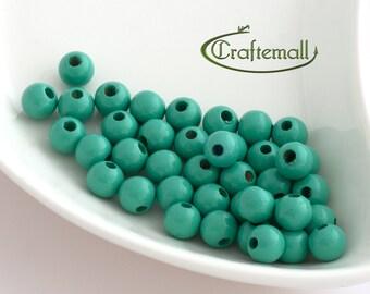 Wooden Beads - Mint 8mm - 20 Beads