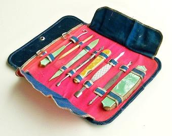 Vintage Traveling Manicure Set