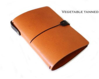 LEATHER COVER for Midori passport size - pocket size notebooks - FIELD notes