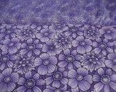 Fabric yardage Blank Floral Oasis Purple