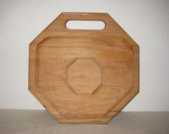 Vintage wooden hors d'oeuvre serving board