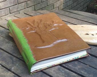 Large Leather Tree Journal, Sketchbook or Grimoire