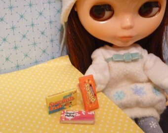 Miniature Dollhouse Candy Boxes for Blythe, Barbie, Pullip, BJD 1:6 scale