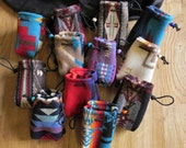 12 Pouches Medicine Bags Totem Cases Coin  Purses Gift Bag Party Favors - Wool from Pendleton OR 3 x 3.5