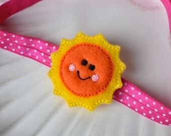 Bright Happy Sunshine Headband- Perfect Summer Accessory for Baby Girl