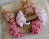Shabby Wrinkled DEAR EMMA ribbon bundle, 15 yards